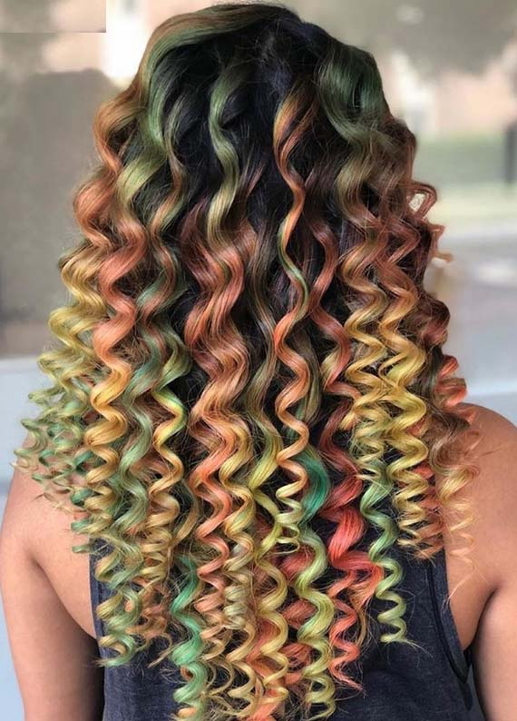 Beautiful Colorful Curls for Every Woman in 2018