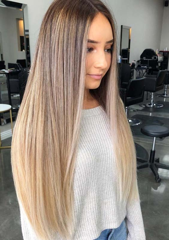 Stunning Blonde Balayage Straight Hairstyles for 2018