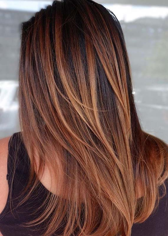 Modern Blends Of Balayage Ombre Hair Colors in 2021