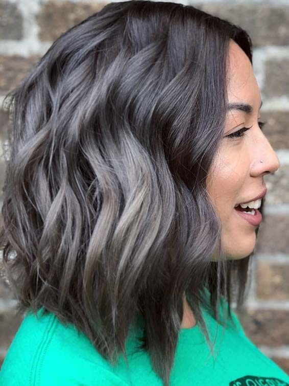Charming Grey Locks and Fresh Haircut Styles in 2018