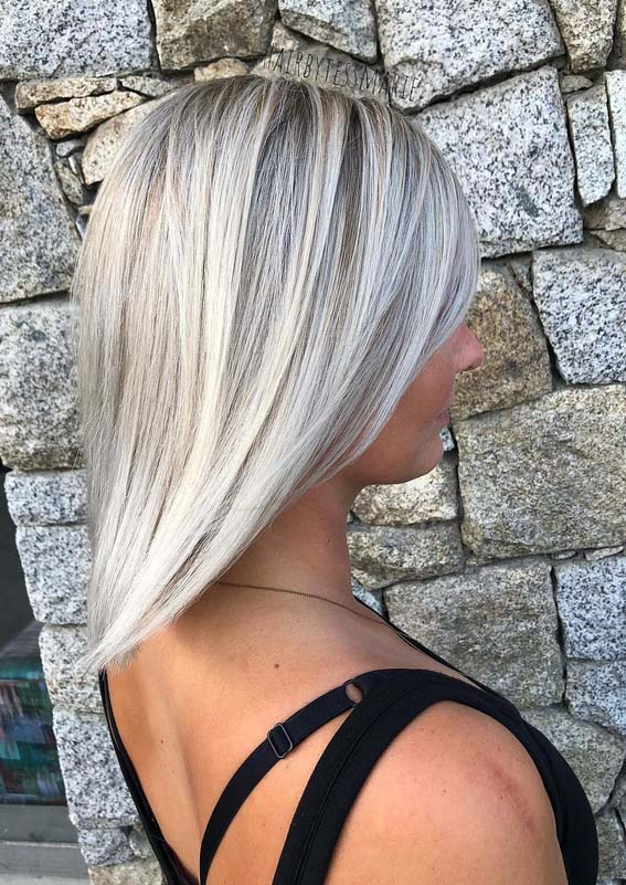 Ice Blonde Ombre Hair Color Shades for Women 2018