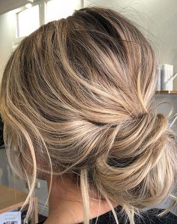 Trending Soft and Textured Updo Styles for Women 2018