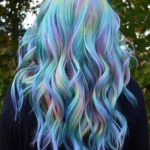 Amazing Rainbow Blue With Pink Hair Colors in 2021