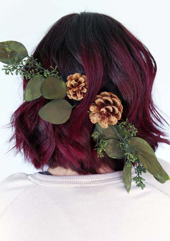 Awesome Plum Red Hair Colors & Highlights for Women 2018