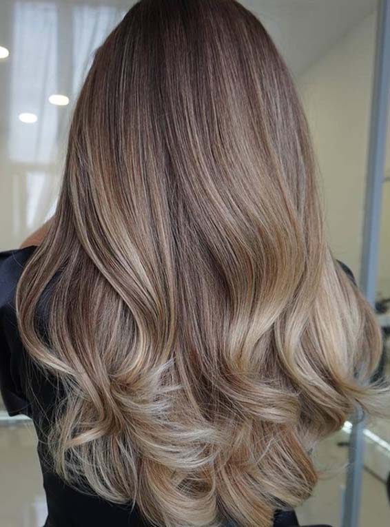 Fantastic Balayage Omber Hair Colors With Black Roots in Year 2018