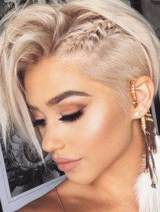 Braided Pixie Hairstyle For Short Haircuts in Year 2018