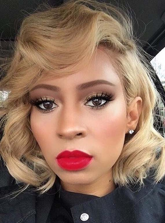 Best Curly Bob Haircuts with Blonde Bombshell Hair Colors in 2018