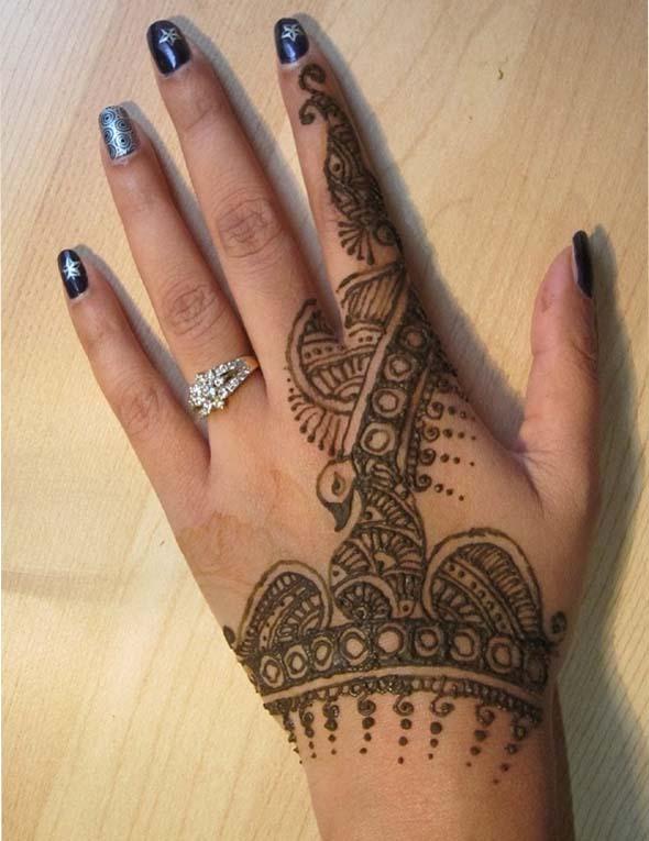 Easy Peacock Mehndi & Henna Designs in 2021