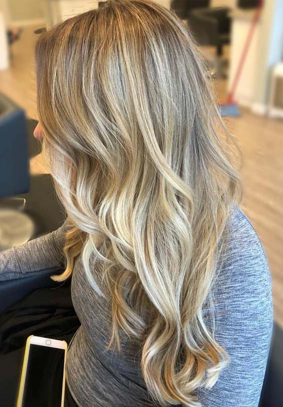 Best Blonde Hair Color Highlights For Long Wavy Hair In 2019