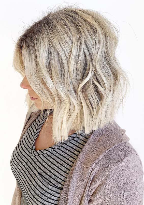 Beautiful Blunt Blonde Bob Haircuts for Women in 2021