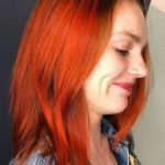 Bright Copper Balayage Hair Color Styles in 2019