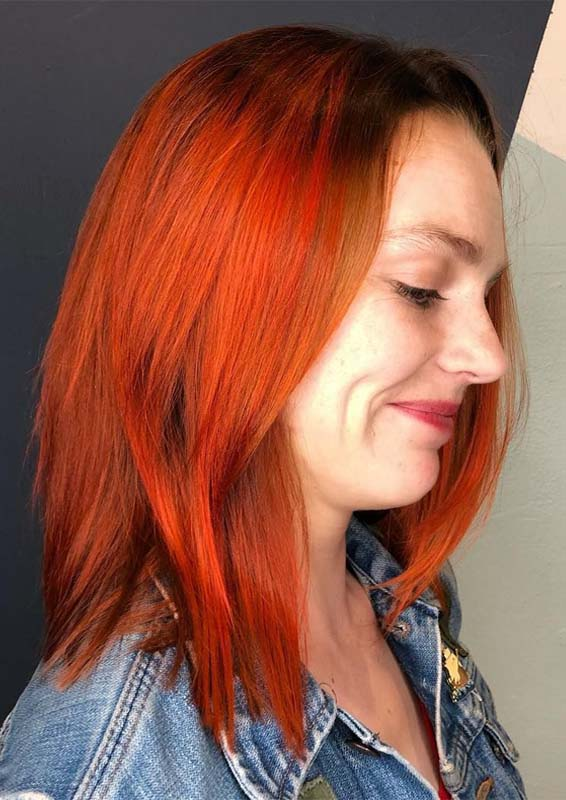 Bright Copper Balayage Hair Color Styles in 2018-2019