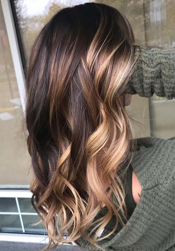 Amazing Brunette Balayage Hair Color Highlights in 2019 ...