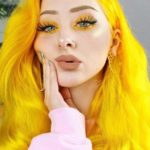 Crazy Sun Shine Yellow Hair Colors And Makeup Trends in 2021