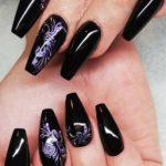 Fantastic Black Nail Art Designs in 2021