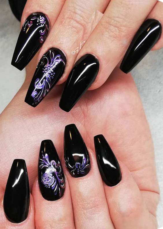 Fantastic Black Nail Art Designs for Women in 2019