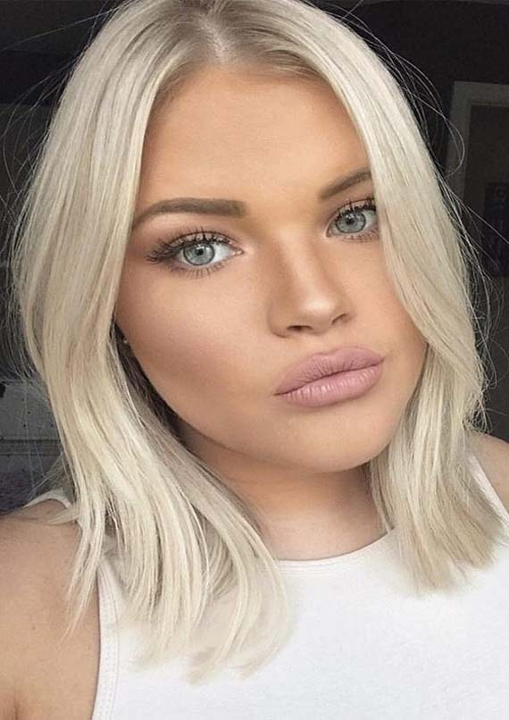 Fantastic Blonde Lob Hairstyles Trends for Women in 2019