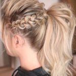 Messy Braided Ponytail Hairstyles in 2019