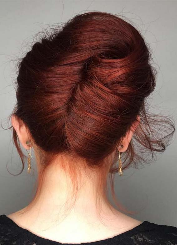 Ultramodern Bun Hairstyles Ideas for Holiday in 2019