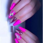 Barbie Pink & Rose Gold Nail Designs for 2021