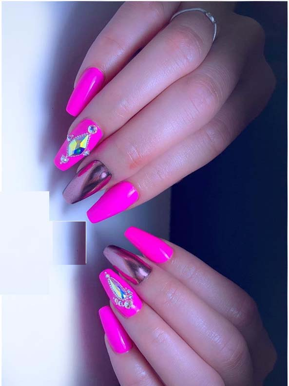 Modeshack Blog Archive Barbie Pink Rose Gold Nail Designs