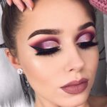 Beautiful Burgundy Extended Palette Makeup Ideas for 2021