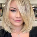 Creamy Butter Blond Hair Colors for Long Bob Haircuts for 2021