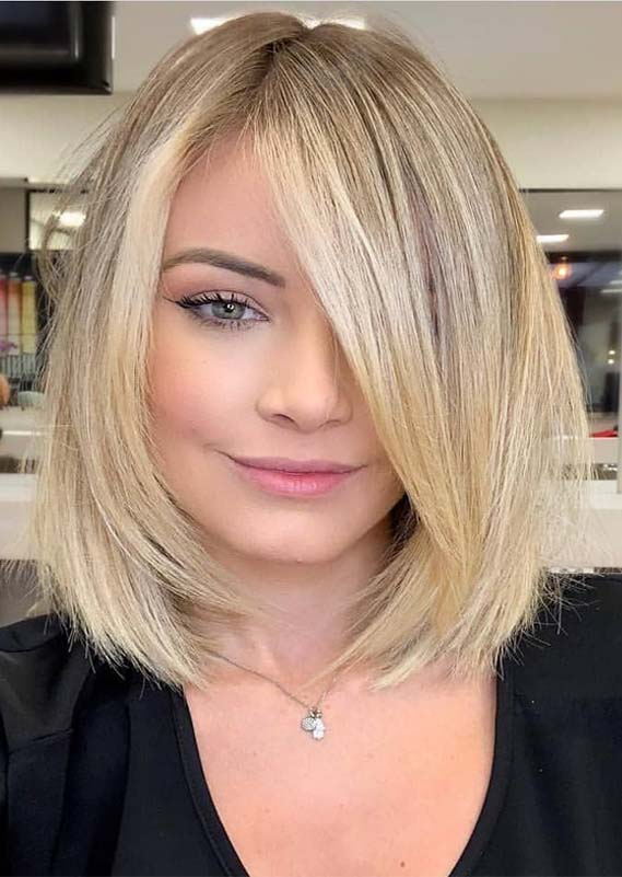 Gorgeous Creamy Butter Blond Hair Colors for Lob Styles in 2019