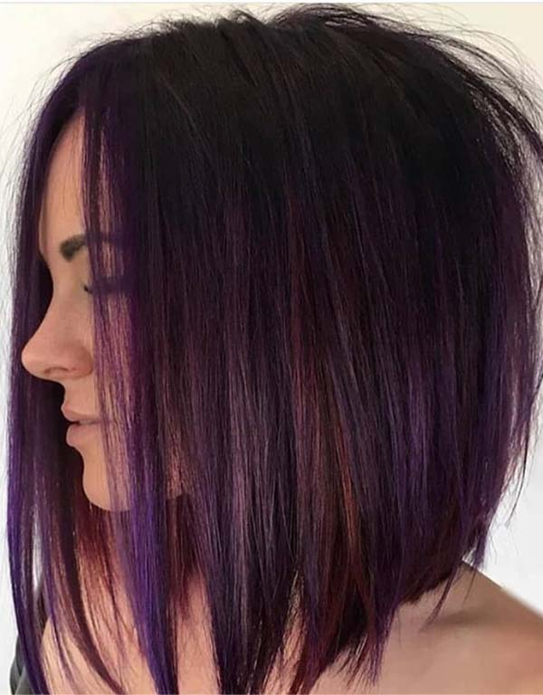 Gorgeous Dark Magenta Hair Colors for bob Haircuts in 2019