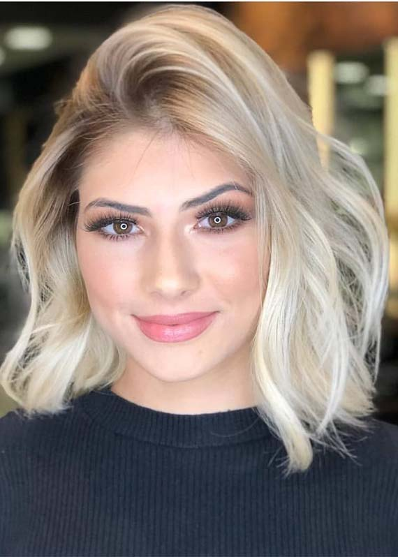 Fabulous Medium Length Blonde Haircuts for Women 2019