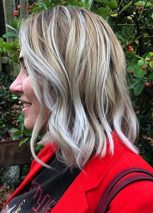 Fantastic Ice Balayaged Lob Haircuts for 2019