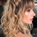Long Braids with Front Bangs in 2019