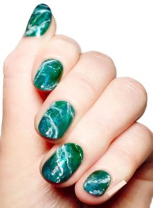 Ocean-Inspired Marble Nail Designs in 2021