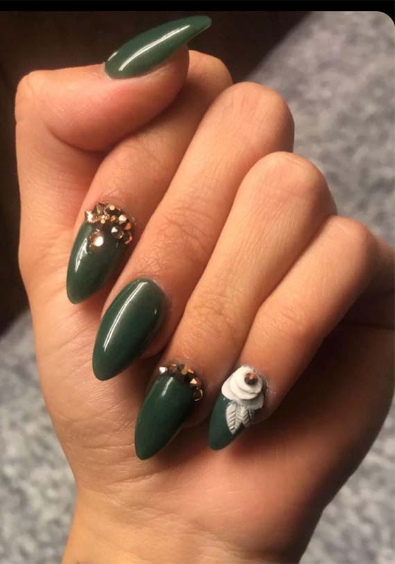 Cutest Olive Green Nail Arts for Women 2019