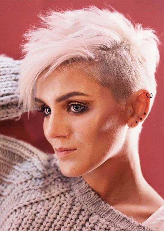 Perfect Blonde Pixie Haircuts For Short Hair In 2019