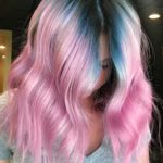 Pink with Blue Melt Hair Color Shades for 2019