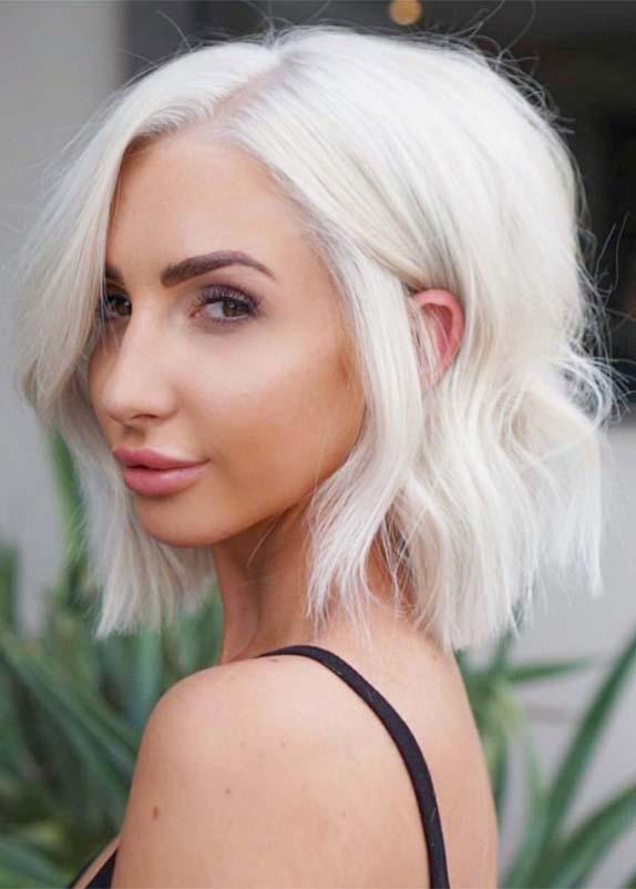 Amazing Platinum Blonde Hair Color Ideas for 2019