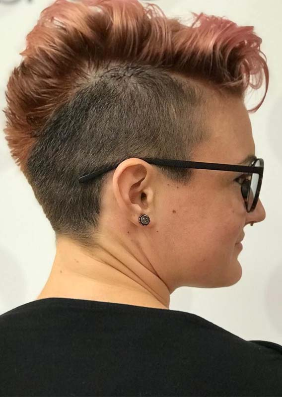 Unique Side Shaved Pixie Haircuts for Women 2019