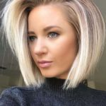 Side Swept Blonde Bob Hairstyles for 2019