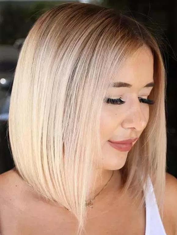 Cute Straight Bob Haircuts for Round Faces in 2019
