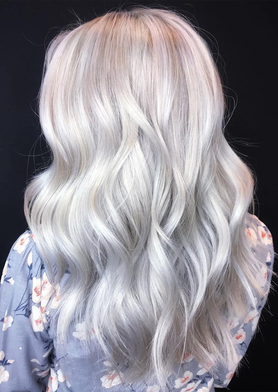 Amazing Shades Of Ice Blonde Hair Colors for 2019