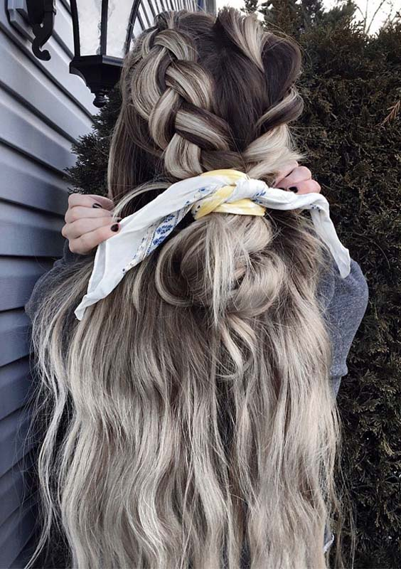 Cute Braided Hairstyles for Long Ombre Hair in 2021