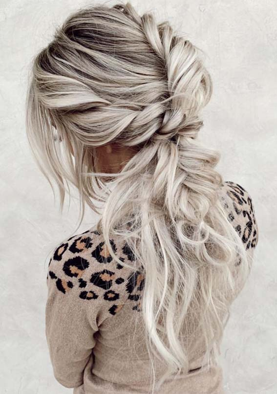 Gorgeous Braided Ponytail Hairstyles Trends for 2021