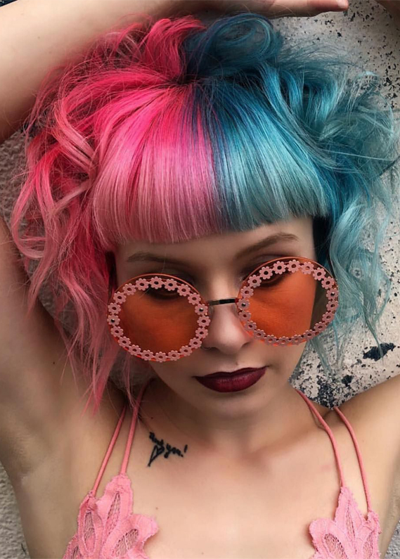 Gorgeous Pink & Blue Ombre Hair Color Ideas for 2019