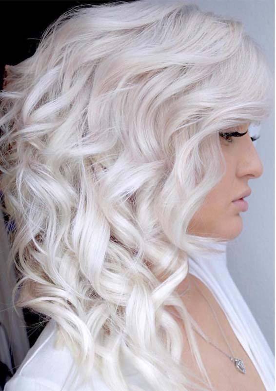 Gorgeous Platinum Blond Hair Colors To Try in 2021