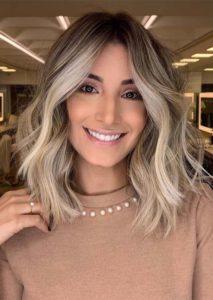 Inspirational Balayage Highlights for Medium Haircuts for 2021