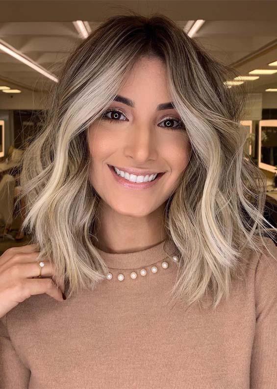 Inspirational Balayage Highlights for Medium Hair in 2021