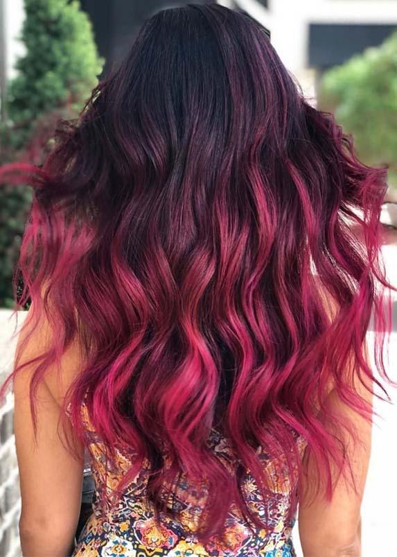 Best Mermaid Ombre Hair Colors for Long Hair in 2021