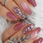Nice Berry Pink Nail Polish Design for Coffin Nails for 2021