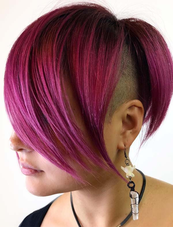 Obsessed Ideas Of Undercut Red Short Haircuts for 2021